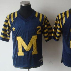 Youth Michigan Wolverines 2 Throwback Navy Jersey
